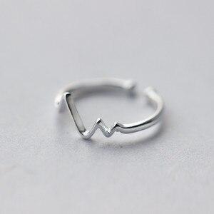 Image 2 - WANTME ของแท้ 100% 925 เงินสเตอร์ลิงเปิดส่วนบุคคลเรขาคณิตหยักแหวนสำหรับอุปกรณ์เสริมสำหรับผู้หญิงเครื่องประดับ