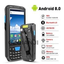 Novo android 8 pda robusto, manual, terminal coletor de dados, sem fio, 1d 2d, qr, leitor de código de barras, terminal 4g