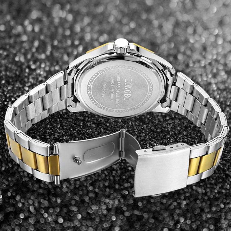 Image 5 - LONGBO Quartz Watches Men Popular Brand Sports Wristwatches Business Stainless Steel Waterproof Clock Relogio MasculinoQuartz Watches   -