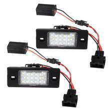2 pces led número da placa de licença luz lâmpada erro livre 1j5943021d 1j5943021a para vw bora golf 4 5 wagon passat tiguan touareg mk1