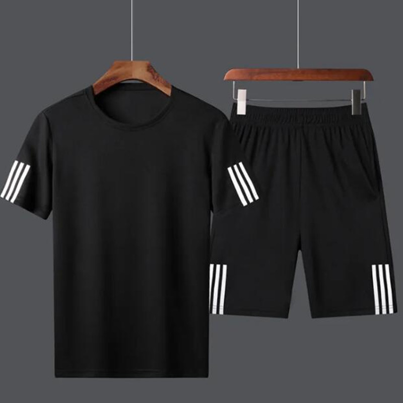 New Men's Suit Summer Thin Large Short Sleeve Shorts Quick Drying Sweat Suits Men Track Suit Sweatsuit Sweatsuit Soccer Suit 8XL