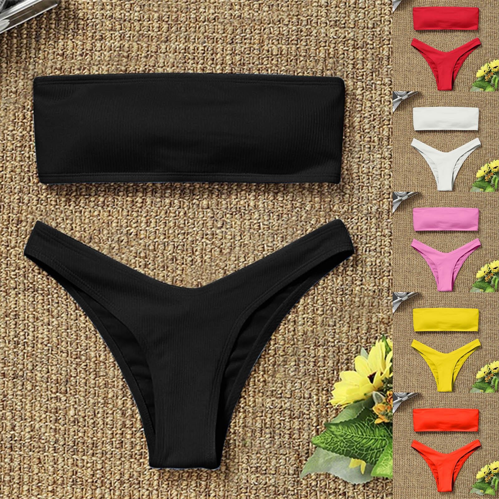 Женское бикини с завышенной талией, купальник из двух частей, купальник для девушек, пляжный купальный костюм, женский модный купальник, Исп...
