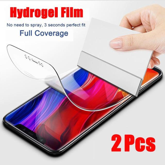 2Pcs Cover Soft Hydrogel Film For Xiaomi Mi 11 Mi 10 Mi 9 9T Pro Mi 8 A3 Screen Protector For Redmi Note 10 9 8 7 K20 K30 Pro 9S 1