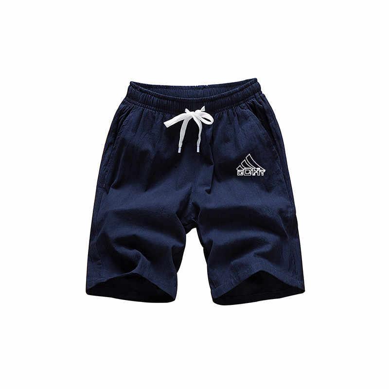 Lato spodenki ze sznurkiem plaży spodenki w pasie wygodne szorty męskie workout marka szorty fitness bermudy czarne krótkie spodenki