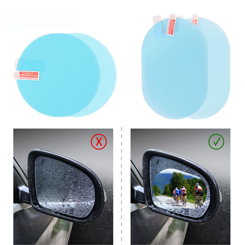 2pc Car Sticker Rearview Mirror Protective Film For renault duster megane logan renault clio Koleos car styling Auto Accessories