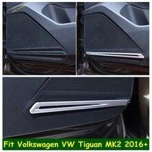 Lapetus Innere Tür Stereo Sound Lautsprecher Audio Streifen Abdeckung Trim Fit Für Volkswagen VW Tiguan MK2 2016 - 2020 Innen refit Kit