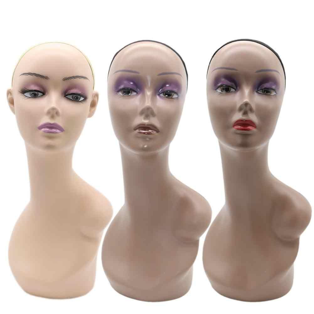 Dummy Weibliche Mannequin Kopf Modell Perücke Schmuck Hut Kappe Display Stand Halter Professionelle Praxis Ausbildung Köpfe Werkzeug