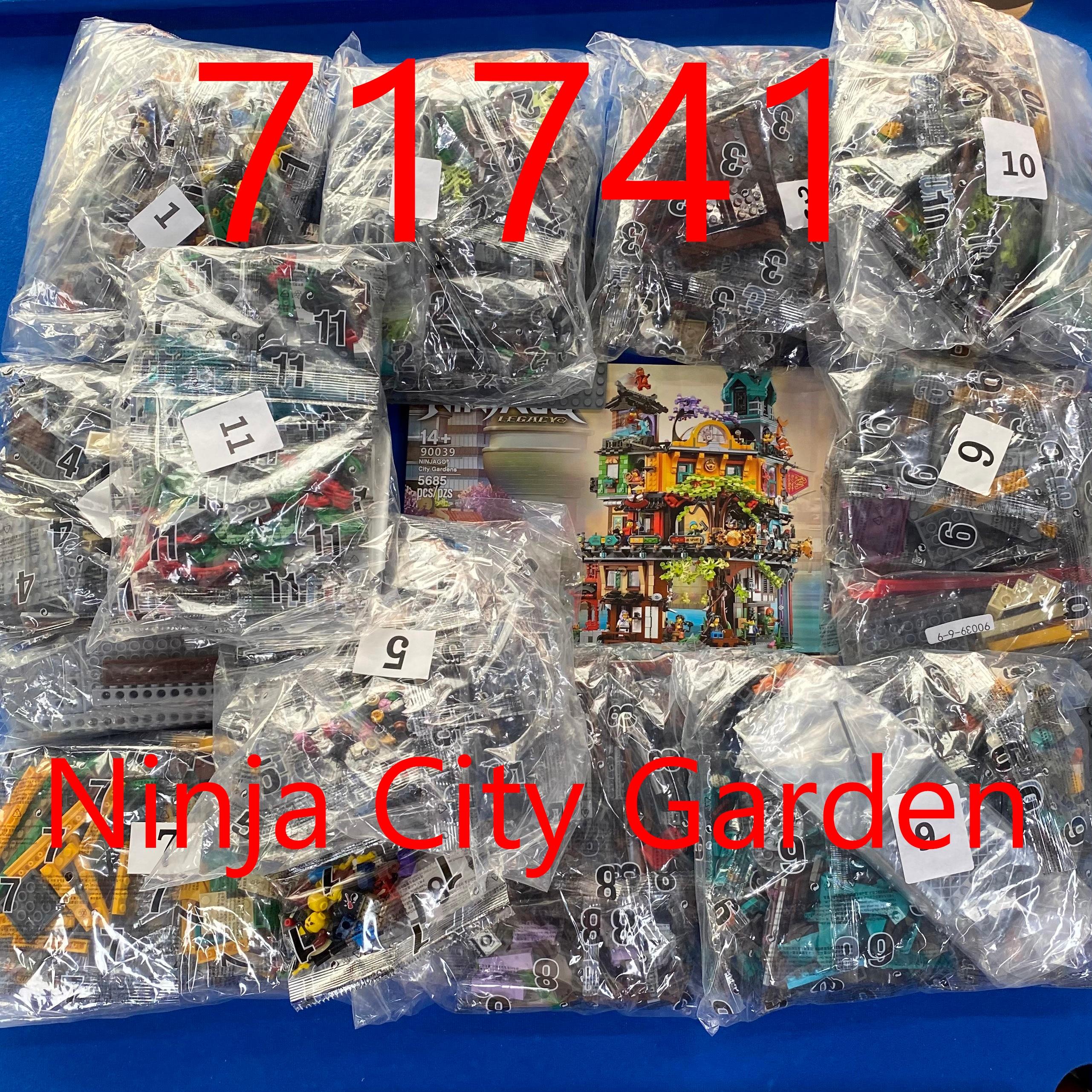 В наличии фильм серии СОВМЕСТИМЫ 71741 городской сад Вид из окна модель конструкторных блоков, Детские кубики, игрушки для мальчиков детские п...