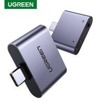 UGREEN, adaptador de conector de auriculares USB C a tipo C de 3,5mm, convertidor de auriculares AUX de aluminio para Audio USB tipo C de 3,5mm para Huawei P20 Pro