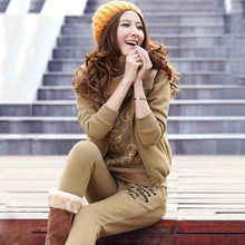 New Ladies Fall and Winter 2 Piece Suit Hoodie + Vest Haren Pants Women Outfits Sweatsuit for Plus Size