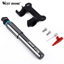 WEST BIKING Portable Bicycle Pump 150PSI Presta/Schrader Road MTB Mountain Bike Cycling Inflator Hand For