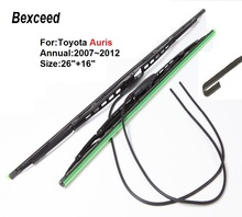 """Wiper Blade for Toyota Auris Bexceed 26""""+16"""" Rubber Windscreen 2007 2008 2009 2010 2011 2012"""