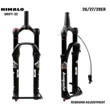 Bicicleta mtb garfo 26 27.5 29er Polegada suspensão fork lock reta afilado através do eixo qr ajuste de recuperação liberação rápida