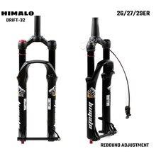 Forcella MTB per bicicletta 26 27.5 29er pollici sospensione forcella blocco dritto conico perno passante QR regolazione rapida del rimbalzo