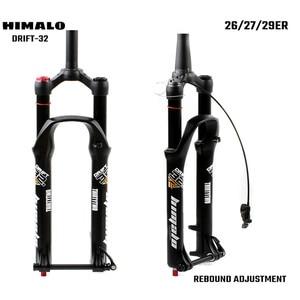 Image 1 - Horquilla de suspensión para bicicleta de montaña, bloqueo de horquilla de 26, 27,5 y 29 pulgadas, eje pasante cónico recto, ajuste de rebote de liberación rápida QR
