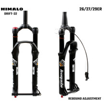 bicycle MTB Fork 26 27.5 29er Inch Suspension Fork Lock Straight Tapered Thru Axle QR Quick Release Rebound adjustment