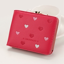 Women Wallet Hasp Coin Purse Female PU Leather Wallets Vintage Fashion Small Card Holder 2019 New