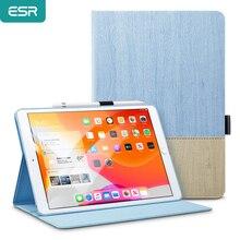 """ESR iPad 케이스 커버 10.2 """"인치 iPad (7 세대) 용 연필 홀더가있는 단일 개방형 멀티 앵글 뷰 스탠드"""