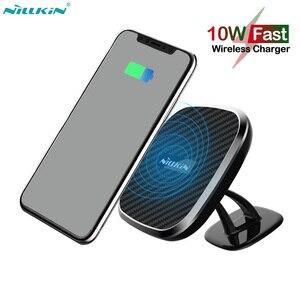 Image 1 - Nillkin cargador inalámbrico magnético para coche, Cargador rápido Qi de 10W para iPhone 11 Pro X XR XS Max, Samsung Note 8 9 10 S9 S10 S20 Plus