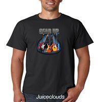 Guitar T Shirt Gear Up Guitar Player Electric Acoustic Music Men's Tee