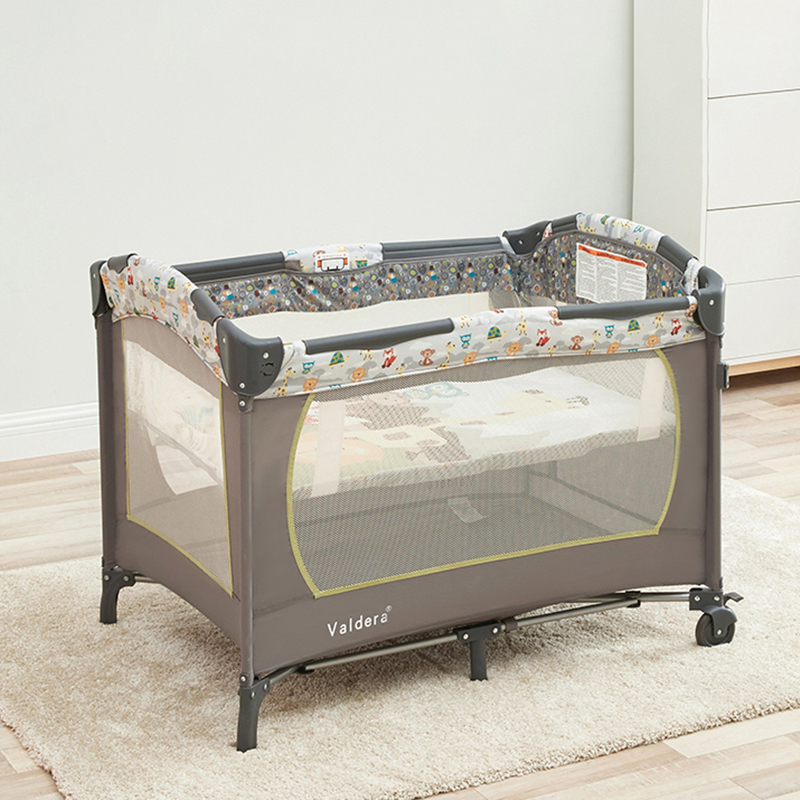 Portable Crib Foldable Multi-function Newborn Bb Bed Movable Stitching Big Bed Shaker Kids Furniture