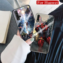 Para Huawei Honor 8x max Marvel vengadores caso de Nova 3i 4e 5 Honor 9x pro 10 20i Note10 jugar V9 V10 V20 Magic2 DIY caso(China)