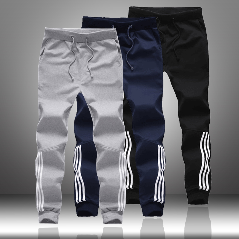 Spring Autumn Men Casual Sweatpants 2020 Mens Sportswear Joggers Striped Pants Fashion Male Skinny Slim Fitted Gyms Harem Pants
