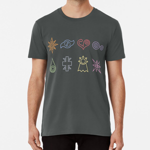 The Nine T Shirt Digimon Crests Crest Courage Love Purity Knowledge Reliability