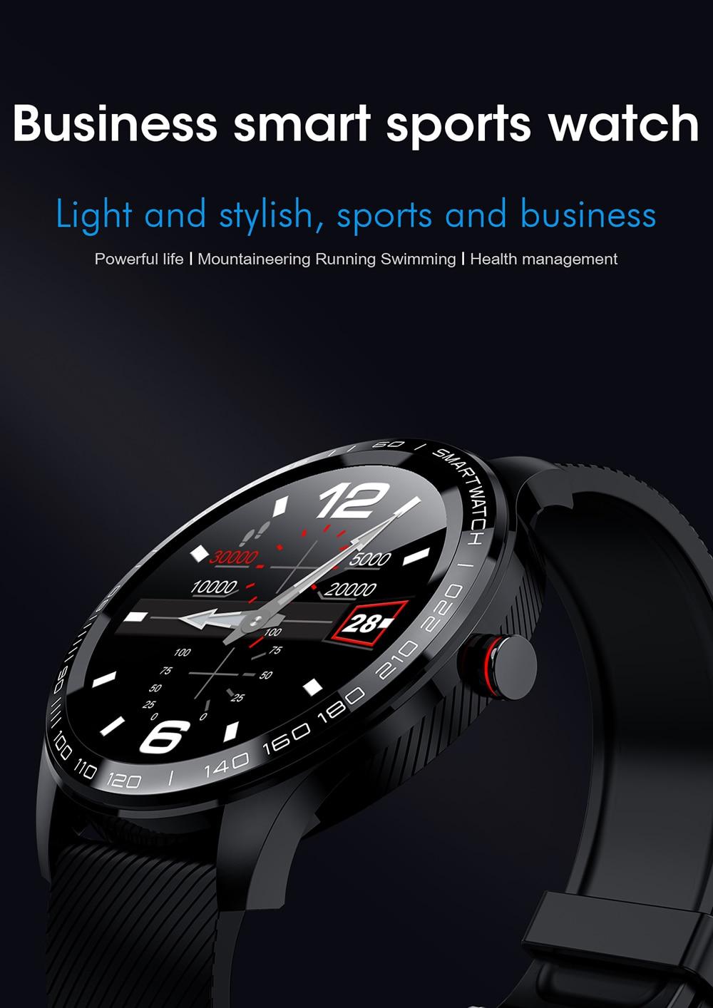 Hbf4eabbb88bd416ead5d5e3e92e18b40S 696 L9 Full touch Smart Watch Men ECG+PPG Heart Rate Blood Pressure oxygen Monitor IP68 Waterproof Bluetooth Smart Bracelet