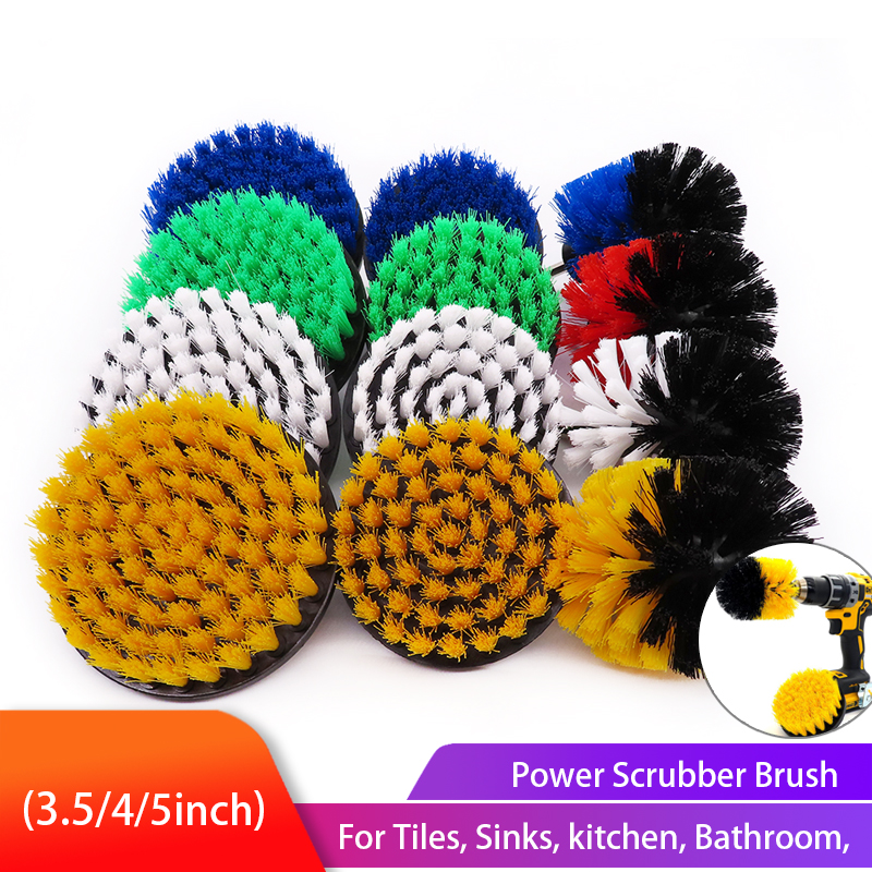 Power Scrubber Brush Set Electric Drill Cleaning Brush for Cleaning Carpets, Kitchens and Bathrooms Drill Attachment Kit(China)