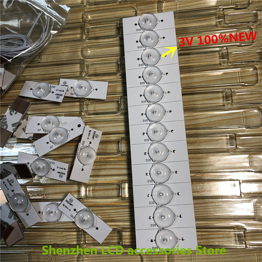 100 Pieces lot 3V LED Bulbs Diodes with Concave Lens for LED Backlight Strip Repair TV 100percentNEW