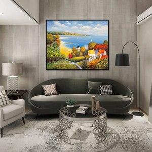 Image 2 - Kits de punto de cruz, juegos de costura bordados con patrón impreso, 11ct lienzo para pintura de decoración del hogar, paisaje completo NCKS034