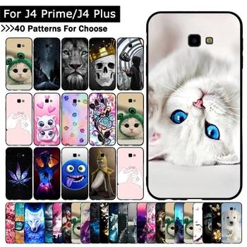 Case For Samsung Galaxy J4 + J415/J4 Prime/J4 Plus Animal Cat cover For Samsung J4+ J4Plus J4Prime Patterned TPU Silicone Cases клип кейс deppa samsung galaxy j4 plus tpu black