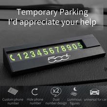 Автомобильные наклейки для временной парковочной карты, номер телефона, держатель для автомобиля, парк мобильный телефон номерной знак для...