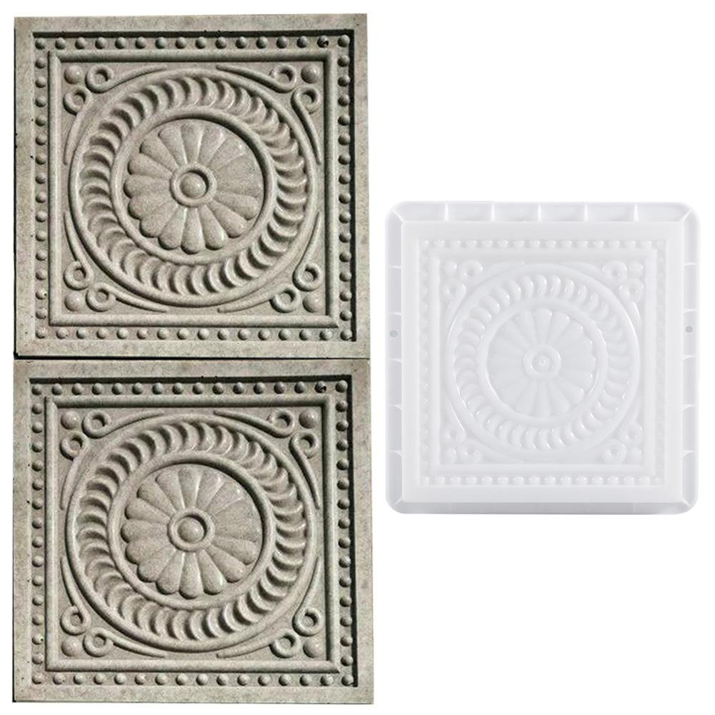 Vierkante Beton DIY Mold Bestrating Plastic Path Maker Mold Bestrating Cement Baksteen De Stone Road Bestrating Moulds Tool Voor Tuin decor