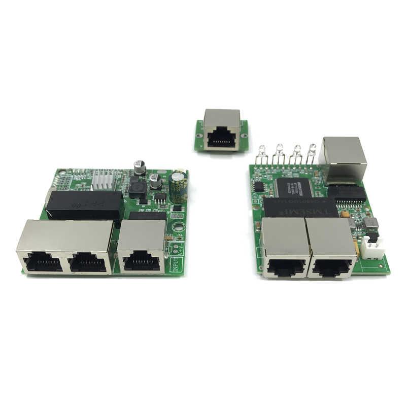 3-port switch Gigabit modulo è ampiamente usato in LED linea 5 port 10/100/1000 m contatto porta mini modulo switch PCBA Scheda Madre