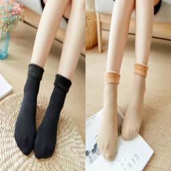 Новые зимние носки утолщенные и плюшевые прочные дышащие и эластичные женские теплые осенние и зимние универсальные носки со средним