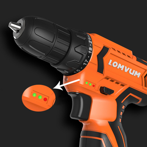 Image 2 - Lomvum Electric Screwdriver 21+1 Torque Power Tools 12/16/24V 2  Speed Cordless Drill Lithium Ion  Electric Drill 45 Accessories