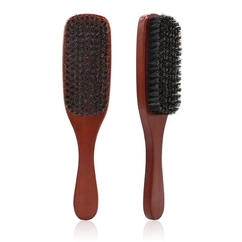 100% Natural Boar Bristle Beard Brush Men Facial Hair Cleaning Brush Professional Beard Shaving Tools(China)
