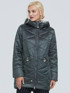 Куртка Astrid женская, зимняя, водонепроницаемая, с капюшоном, контрастного цвета, из толстого хлопка, AM-2090, 2019