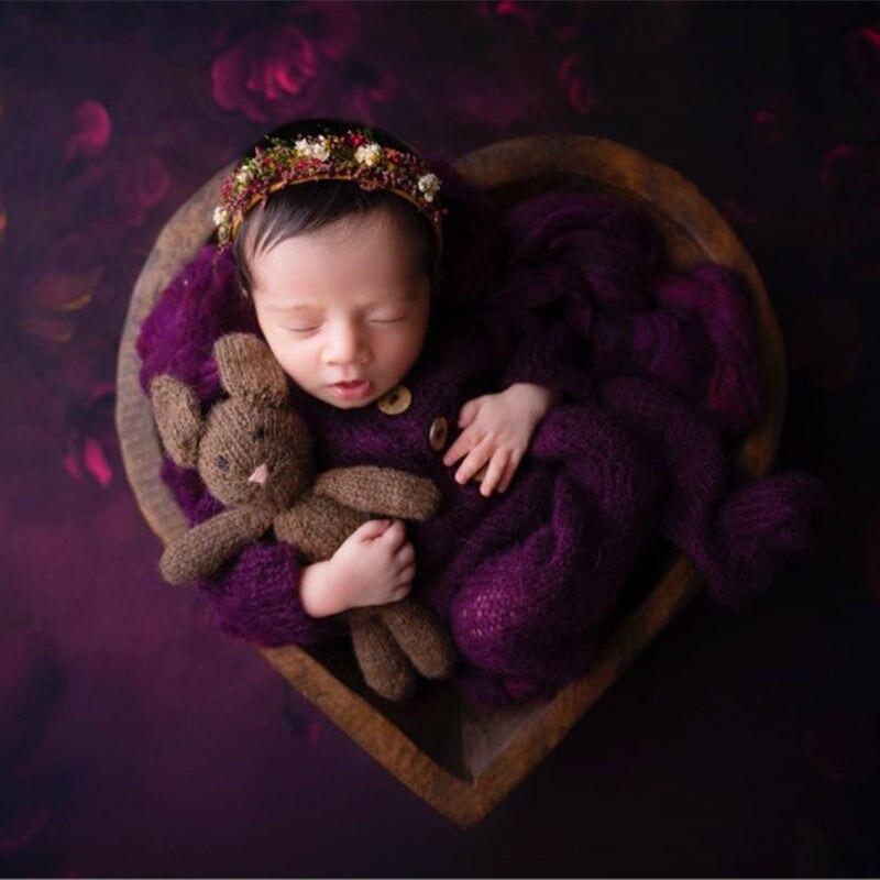 Реквизит для фотосъемки новорожденных, детский мохеровый комбинезон, костюмы с фотографиями фото детей 3