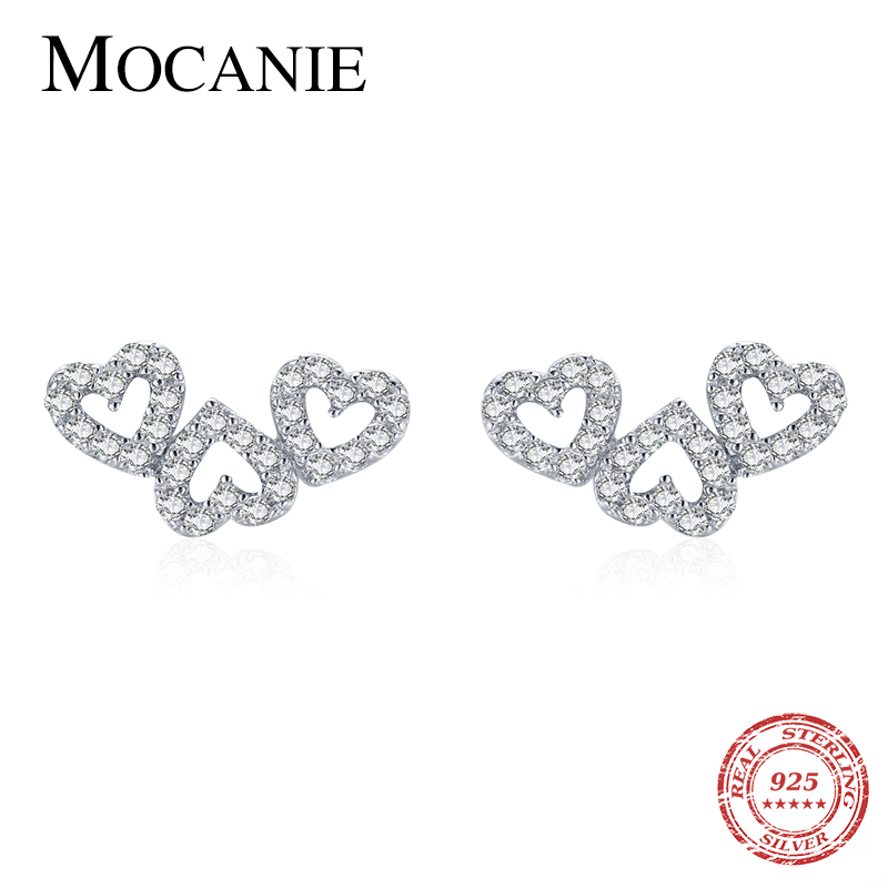 Sparkling Love Stud Earrings