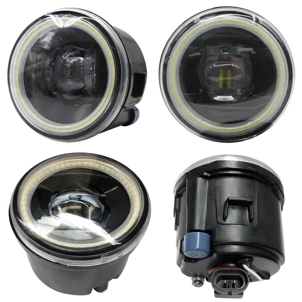 2 個車のフロントバンパーフォグライト 4000LM LED ハローリング天使アイデイタイムランニングライト 12V 日産をバーサ 2007 から 2011