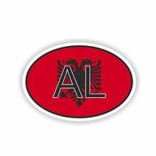 Автомобильная наклейка с албанийским кодом 12 см * 8