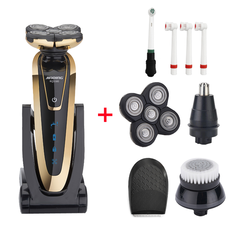 5D Floating Men Shaver Waterproof Electric Razor Rechargeable Whole Body Washing Head Shaving Machine Professional Beard Trimmer image