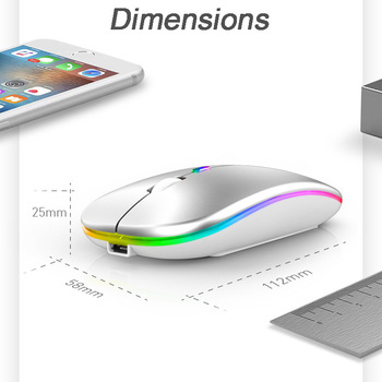 Factory Direct Sales for Apple Huawei Bluetooth Dual-Mode Three-Mode 5.0 Mute 2.4G Wireless Charging Mouse