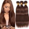 Straight Brazilian Hair Weave Bundles Natural Black Human Hair Extension Brown 1/3/4 Bundles Remy Hair Weaving #2 #4