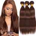 Straight Brazilian Hair Weave Bundles Natural Black Human Hair Extension Brown 1/3/4 Bundles Remy Hair Weaving #2 #4