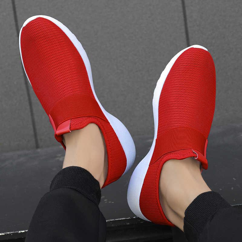 Damyuan 2019 büyük boy 47 ayakkabı erkekler Sneakers hafif nefes ayakkabı yaz moda rahat ayakkabılar