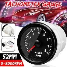 Blanco eléctrica Rev tacómetro contador Tacho medidor 2